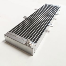 "AVT 26"" x 7"" Alloy Chargecooler Twin Pass Radiator 660mm x 170mm"